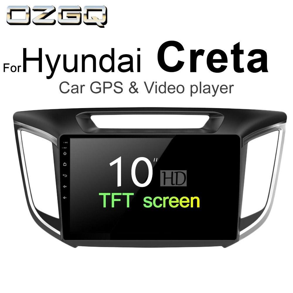 Ozgq Android 7.1 плеер для автомобиля Hyundai creta 2014-2018 Экран Авто GPS навигации Bluetooth Радио ТВ аудио-видео музыка стерео