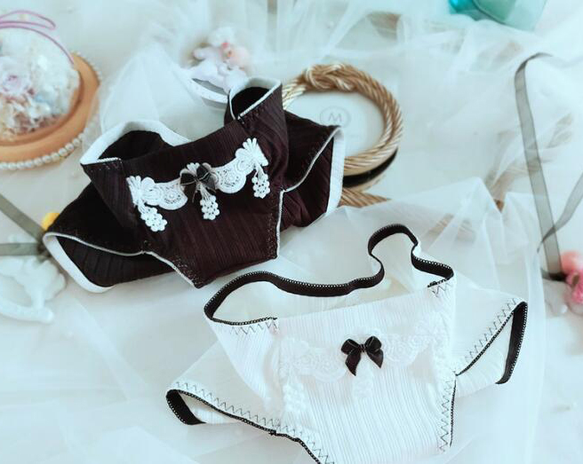 Трусики WP591 женские с вышивкой, милое нижнее белье в рубчик, хлопок, в стиле