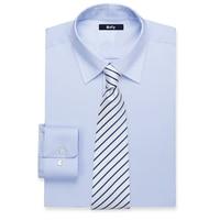 Large Windowpane And Glen Plaid Dress Shirt Custom Made Blue Dress Shirts Tailored Slim Fit Cotton