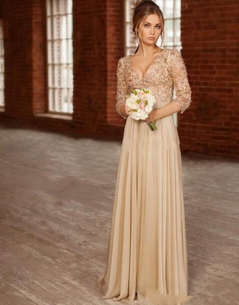 Popular Gold Long Dress-Buy Cheap Gold Long Dress lots from China ...
