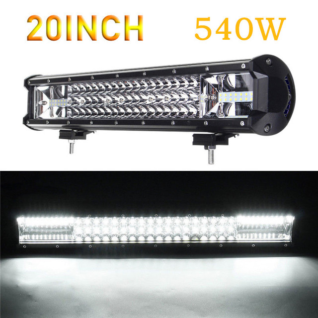 540W LED Car Light LED Lamps For Cars 20 Inch Auto Fog Light Car Headlight Bulbs IP68 Waterproof 6000K Car Work Lights