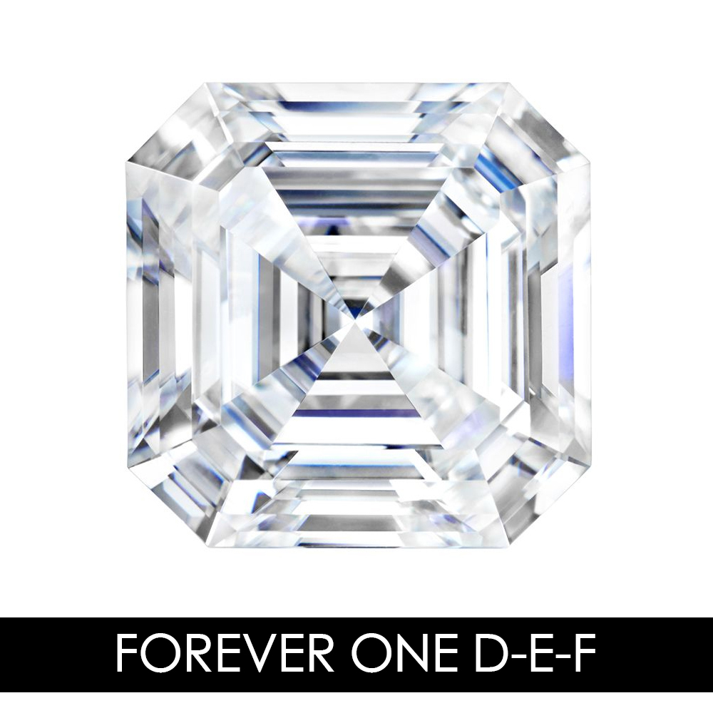 9.0 mm 3.14 CARAT 65 Facets ASSCHER Moissanites Loose Gemstone D-E-F Color Charles & Colvard USA Created Moissanites REAL9.0 mm 3.14 CARAT 65 Facets ASSCHER Moissanites Loose Gemstone D-E-F Color Charles & Colvard USA Created Moissanites REAL