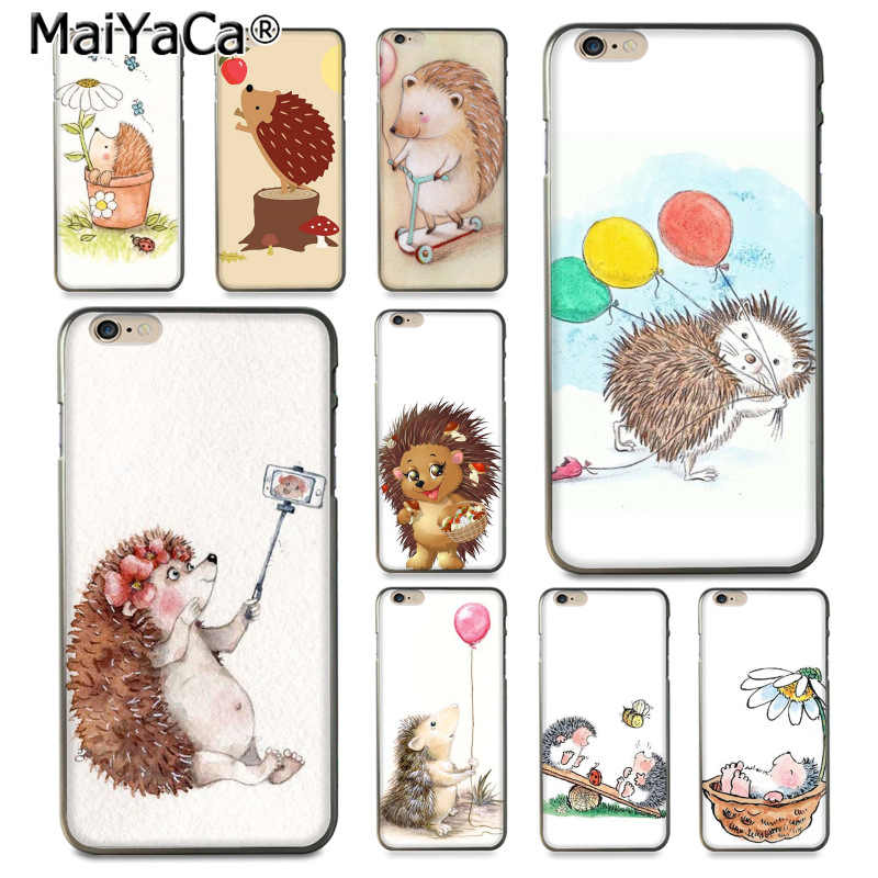 MaiYaCa Animal cartoon hedgehog Luxury High-end Protector phone Case for iPhone 8 7 6 6S Plus X XS XR XSMax 5 5S SE Coque Shell