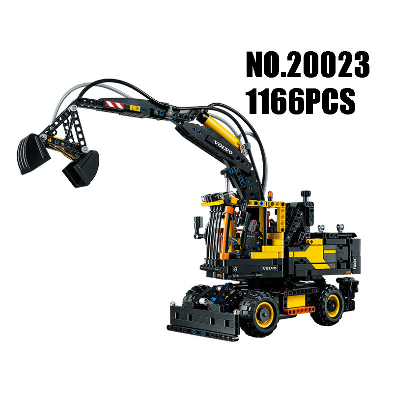 WAZ Compatible Legoe Genuine Technic 42053 Excavator toy Lepin 20023 1166pcs building blocks Figure bricks toys for children waz compatible legoe technic series 75913 lepin 21010 914pcs super racing car red truck building blocks bricks toys for children