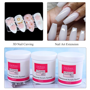 Image 5 - 75g de polvo acrílico blanco rosa claro para uñas, polvo de cristal acrílico 3D, polímero de extensión de puntas para construcción de uñas CH789