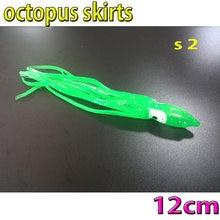 more color choose  fishing octopus skirts size:12CM 8kinds color choose 10pcs/lot soft bait