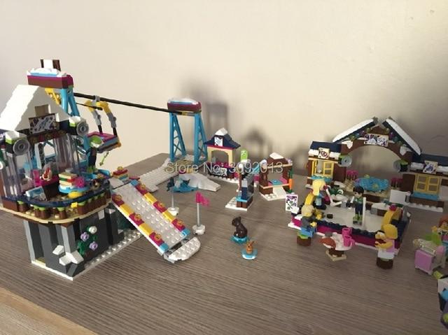 LEPING 01042 girl friends 632PCS Snow Resort Ski Lift FRIENDS 41324 Enlighten Building Blocks Bricks Toys Girl Christmas Gifts