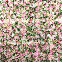 SPR 10pcs/lot mix pink with leaf Artificial rose wedding flower wall backdrop arch table runner centerpiece decorations