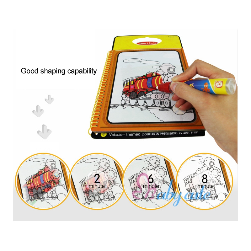 Water Drawing Toy Coloring Books For Kids Writing Board Magic Water ...