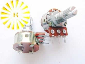 WH148 3Pin con interruptor 10K 50K 100K 500K eléctrico individual potenciómetro pot x 100 Uds