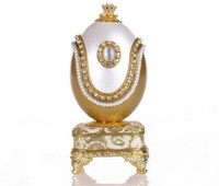 Wedding Souvenir Design Golden Goose Egg Music Box Jewelry Gift Box Home Decor Eggshell Musical Box Happy Birthday for Gift Girl
