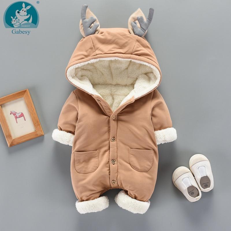 Winter Girl Hat Jumpsuit Shoes Set Newborn Outerwea Layette Cotton Clothing Boy Coat Baby Rompers Clothes Snowsuit Costume Suit