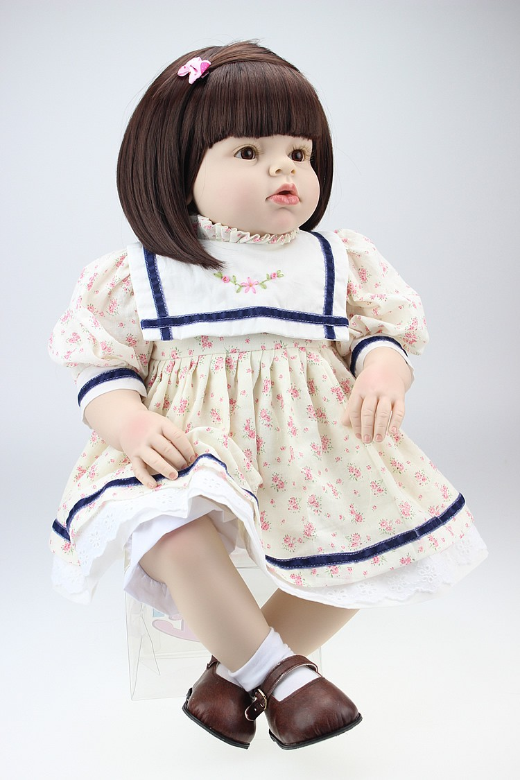 lifelike reborn toddler doll soft silicone vinyl real gentle touch 28inches new fashion design reborn toddler doll rooted hair soft silicone vinyl real gentle touch 28inches fashion gift for birthday