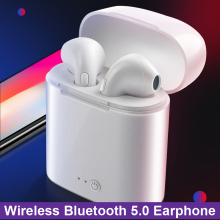купить in-ear for I7 tws Bluetooth Earphone Earbuds Headset wireless headphone With Mic For iphone xiaomi huawei with charging box онлайн