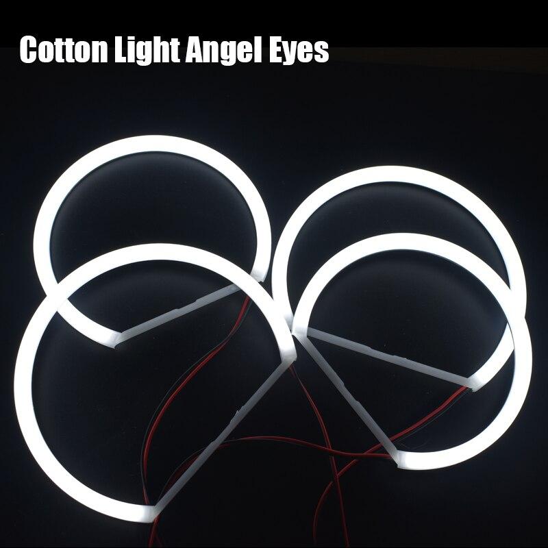 4pc Set White 240 SMD LED Angel Eyes Halo Ring Lighting Kit for BMW E46 3