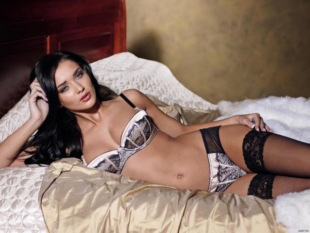 Hot Brunette Girl Sexy Lingerie Stocking Art Huge Print -4502