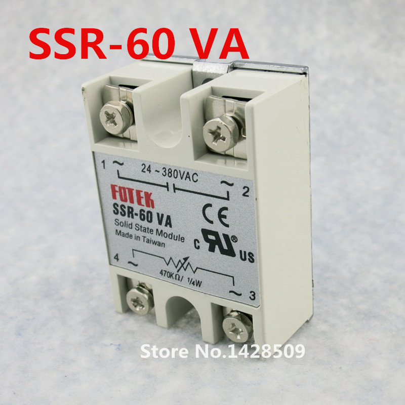 High Quality 1 Piece Resistance Type Voltage Regulator Solid State Relay SSR-60VA 470K Ohm 1/4W TO 24-380V AC SSR high quality ac ac 80 250v 24 380v 60a 4 screw terminal 1 phase solid state relay w heatsink