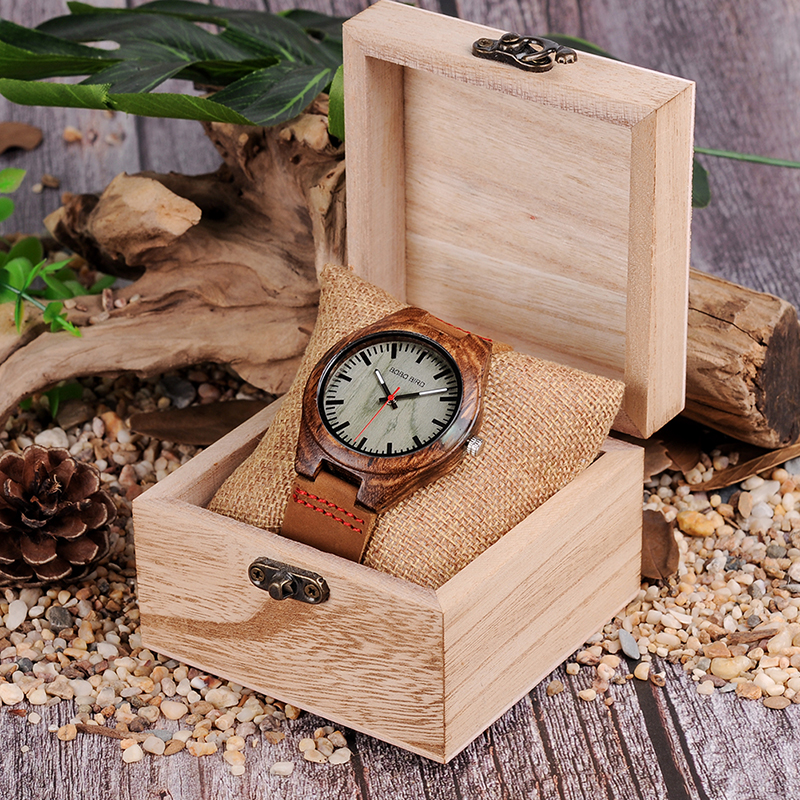 BOBO BIRD Wood Watch Men relogio masculino Special Design Timepieces Quartz Watches in Wooden Gifts