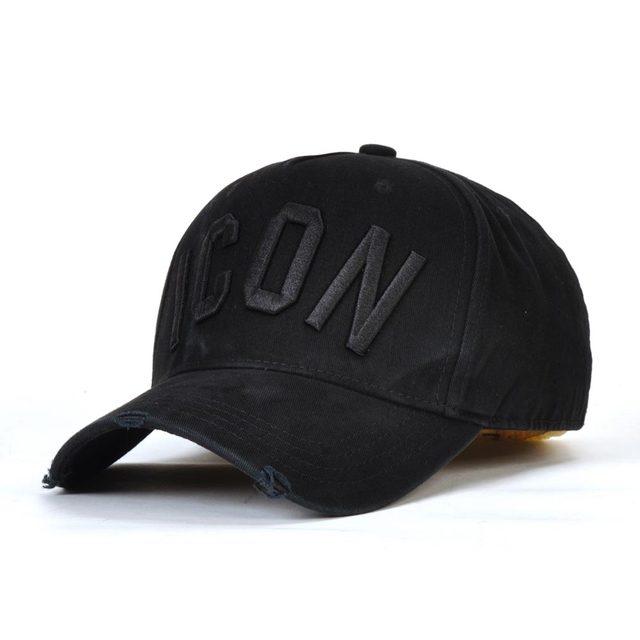 22825d112d6 DSQICOND2 Casual Brand Snapback Baseball Cap for Women Men 2018 ICON Solid Letter  Snapback Caps DSQ Summer Bone Gorras Casquette
