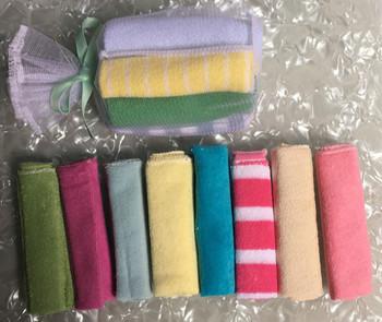 Miękkie ręczniki do mycia niemowląt małe ręczniki do mycia twarzy makijaż jasne ręczniki pakowanie prezentów dla dzieci ręczniki rozmiar 22x22cm tanie i dobre opinie 0-3 miesięcy 4-6 miesięcy 7-9 miesięcy 10-12 miesięcy 13-18 miesięcy 19-24 miesięcy 2 lat w górę Poliester bawełna