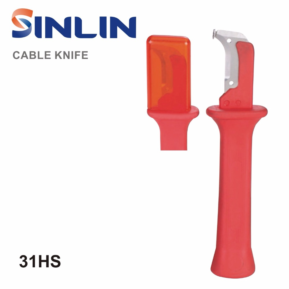 31HS German Style Cable Knife Wire Stripper Patent Stripping tools Decustation Plier  Blade Length 38mm Total Length 155mm