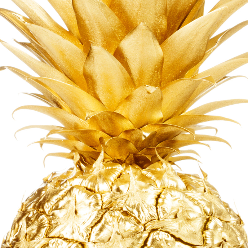 Gold Pineapple Wall Art Poster and Print Canvas Paintings for Living ...