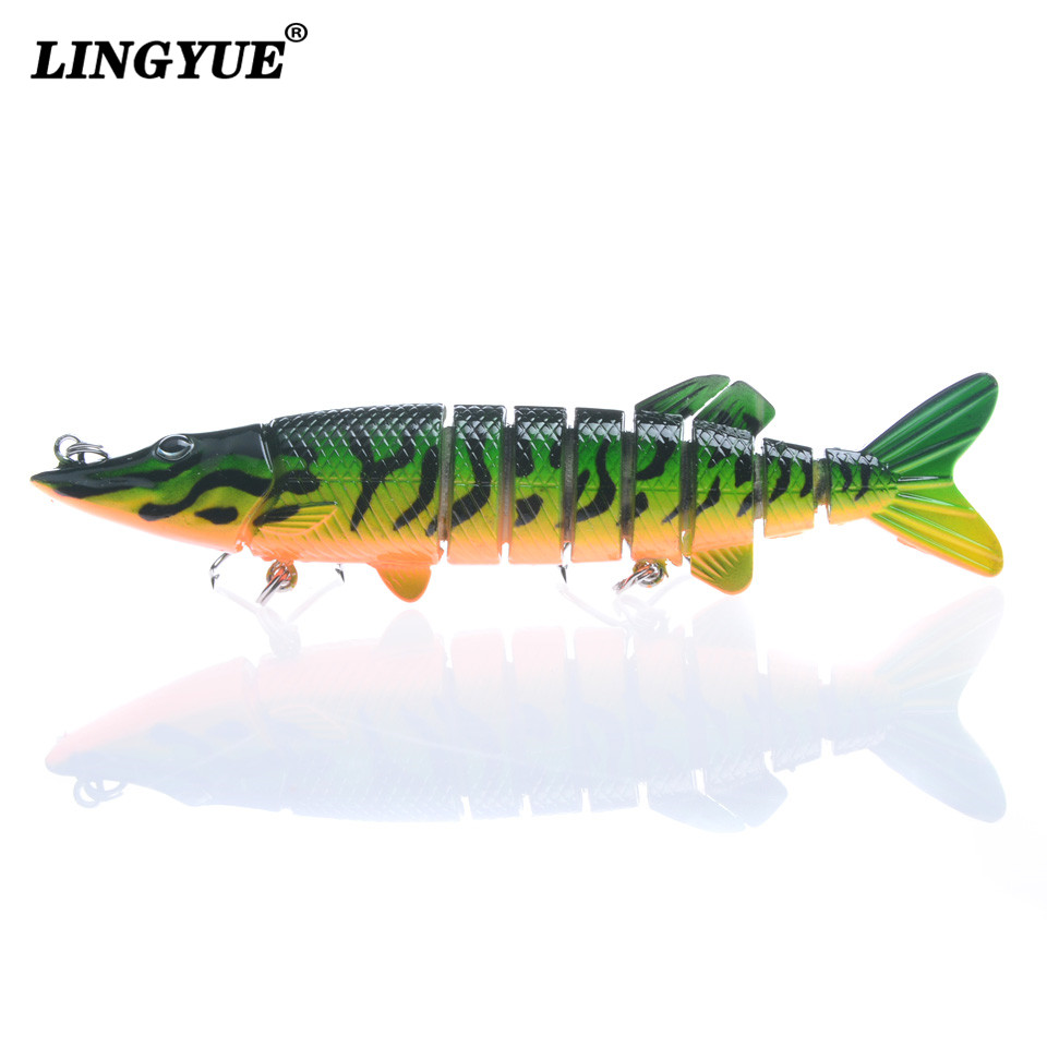 1pcs 9-Sections Multi Jointed Swimbait 13cm/21g Fishing Lures Artificila Lifelike Carp Fishing Tackle 6 Colors Available bait banshee 127mm 21g nexus voodoo atj01 swimbait two sction multi jointed topwater walk dog stickbait floating pencil