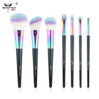 High Quality Colorful 7 Pcs Makeup Brush Set New Arrival Makeup Brushes Shiny Beautiful Powder