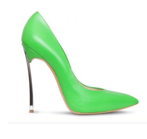 Apoepo 2018 Sexy Pointed Toe High Heels Woman Fashion Leather Dress Shoes Thin Heels Slip-on Wedding Dress Heels Green newest trend slip on fashion cut outs women shoes sexy green pu snakeskin pointed toe thin high heels party wedding dress pumps