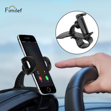 Fimilef Dashboard Car Phone Holder Stand Non-slip Adjustable for iPhone Samsung Huawei GPS Smartphone