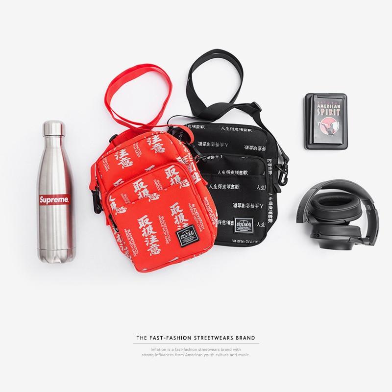 INFLAZIONE di Stile Cinese del Sacchetto del Messaggero 2018 Nuovo Hip-Hop High Street Swag Marsupi INS di Spalla di Modo mini bag 166AI2018