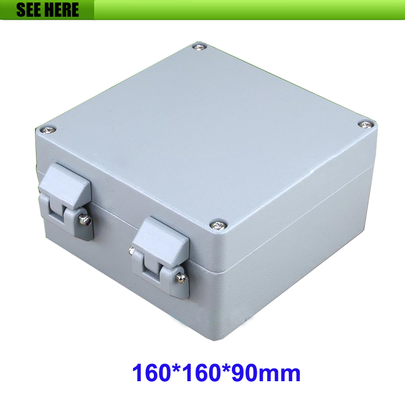 1 piece 160*160*90mm die cast aluminum enclosure IP66 waterproof junction box free shipping terminal box industrial plastic waterproof box electrical junction box 160 160 90mm