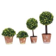 Artificial Bonsai Artificial fake Plastic Fabric Plants Ball Leafs Trees Pots Plants Potted Bonsai home decoration Dropshipping