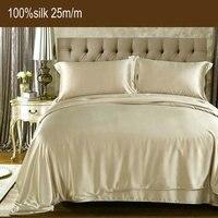 25 момме 100% шелк тутового постельное белье Шелковый пододеяльник шелковая простынь шелковые наволочки наборы