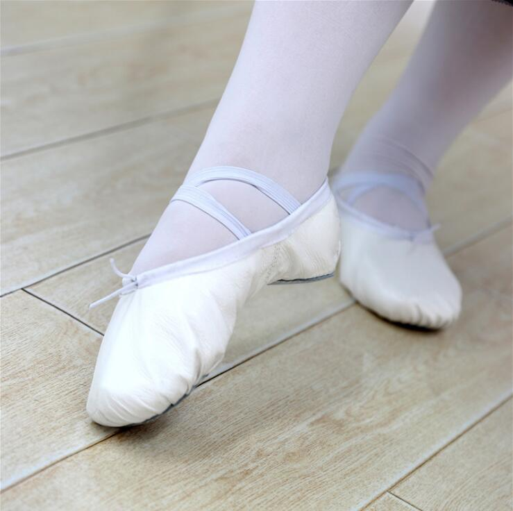 Women Leather Ballet Dancing Shoes Soft and Light Lace-up Dancing Shoes for Women High Quality Factory Dropshipping