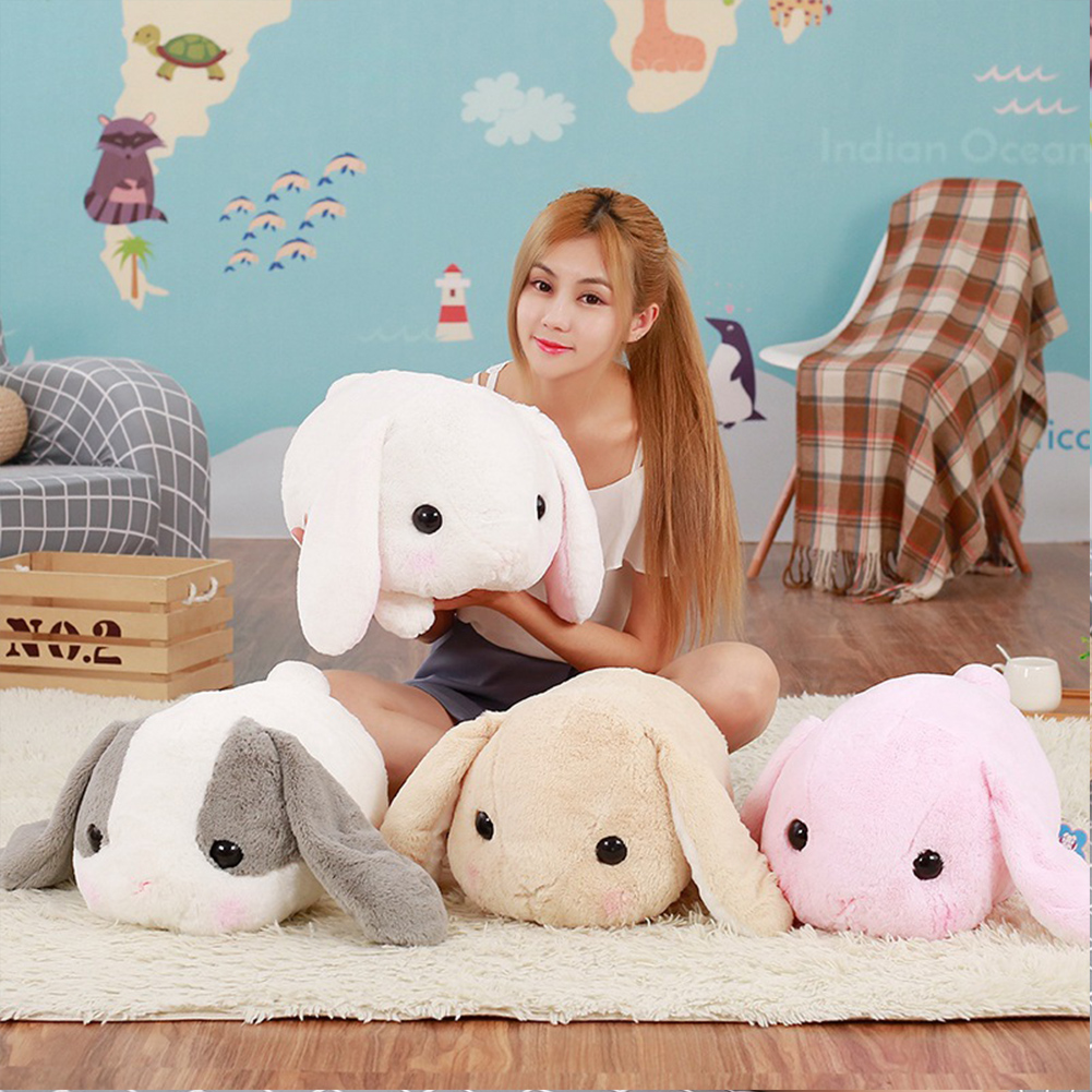 1 PCS NEW hot 40cm big long ears rabbit plush animals toys stuffed bunny rabbit soft toys baby kids sleep toys birthday gifts in Stuffed Plush Animals from Toys Hobbies