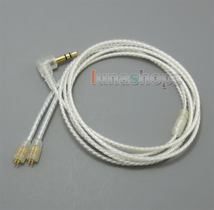 With Earphone Hook Silver Plated Cable For Ultimate Ears UE TF10 SF3 SF5 5EB 5pro TripleFi 15vm TF15