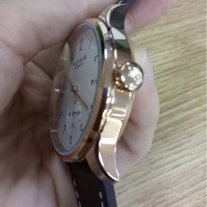 Image 3 - New Parnis White Dial Rose Gold Case Mechanical Automatic Mens Watches Diver Minimalist Men Watch Wristwatch Luxury Waterproof