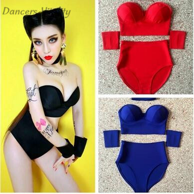 Bodysuit Bar DS Jazz Dance Costumes DJ Female Singer Dress Up Europe and the United States Dance Bodysuit Nightclub sexy costume ...