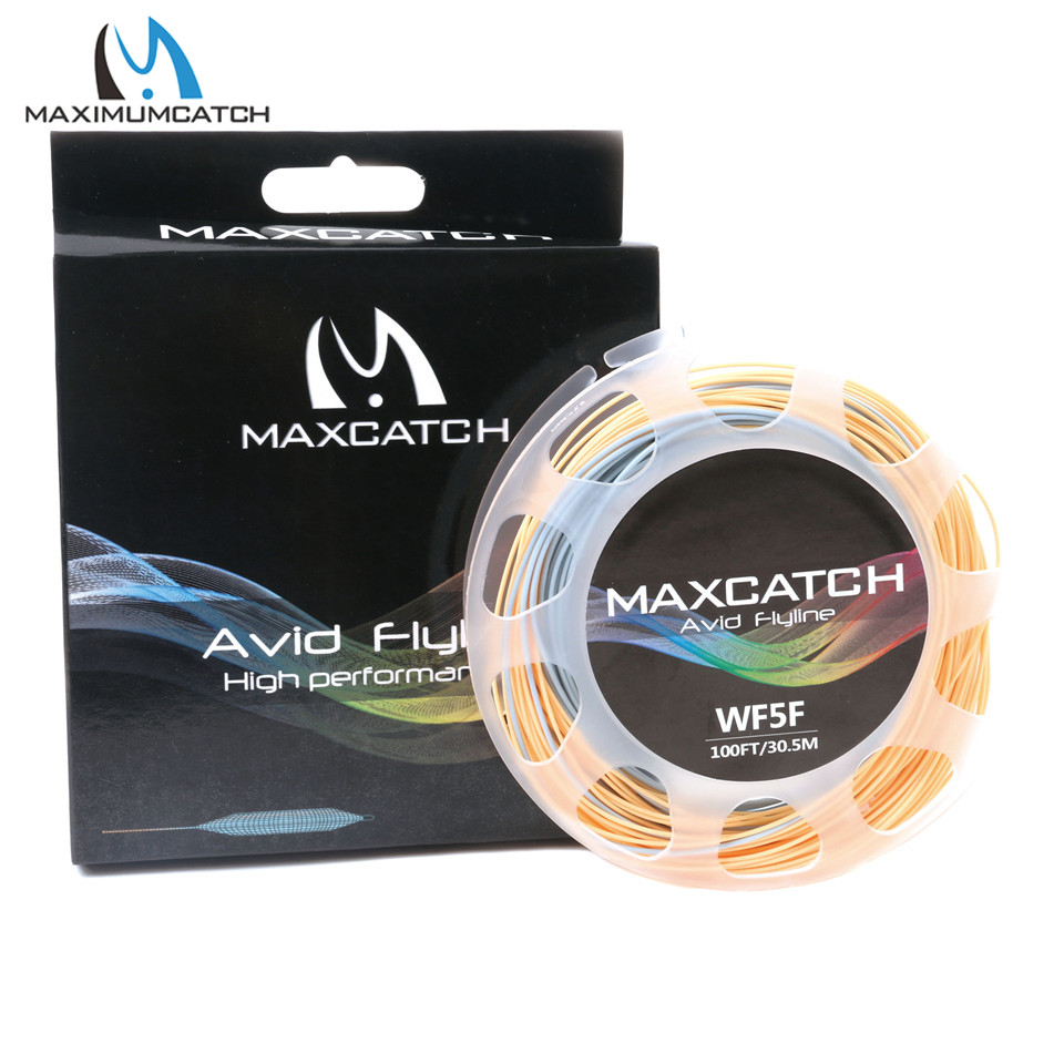 Maximumcatch 100FT 3/4/5/6/7/8WT Double Color Fly Fishing Line Weight Forward Floating Fly Line heatshrinktube 5 3 0awg 100ft 67 392