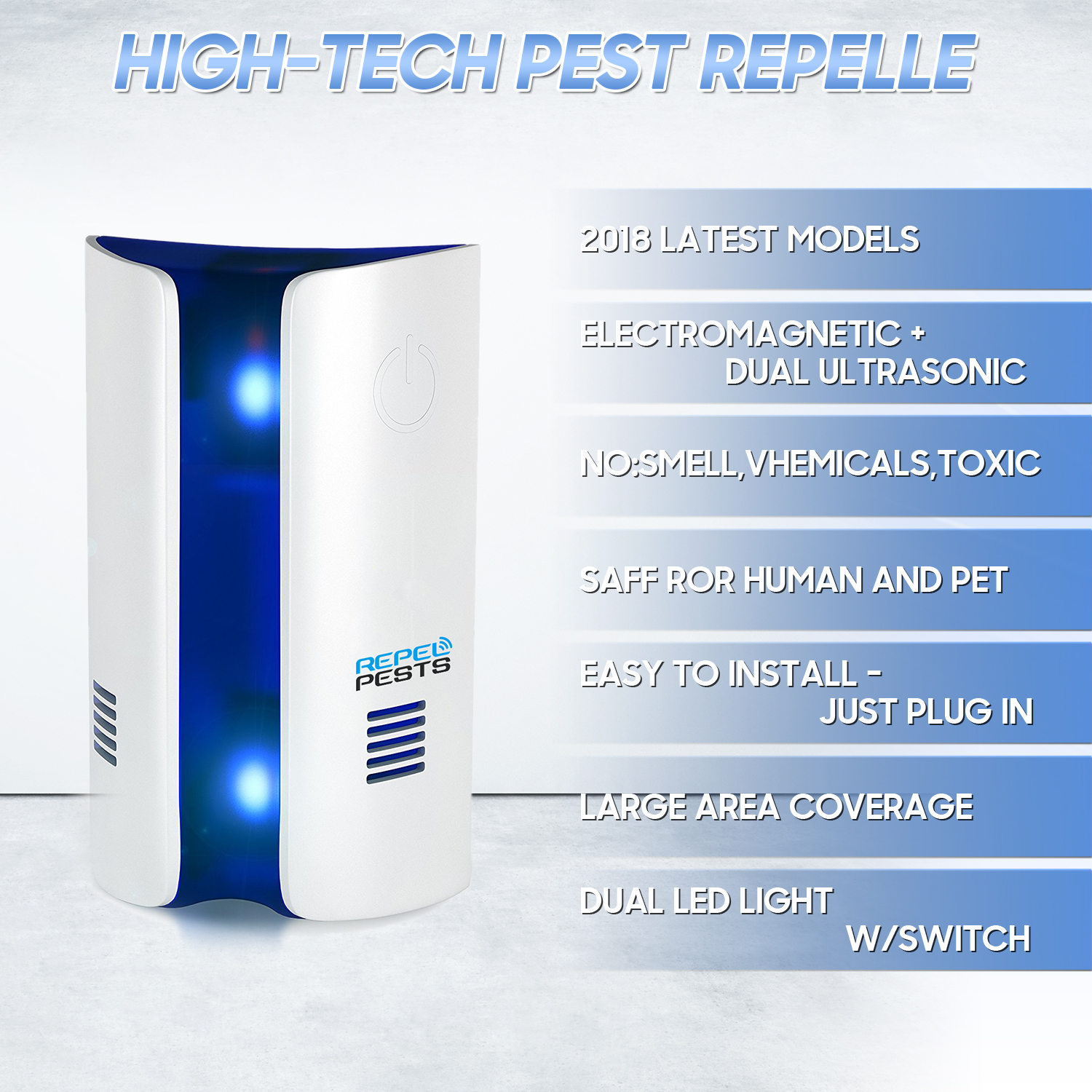 Non-Toxic Ultrasonic Electromagnetic Mosquito Repellent with Double High-Frequency Speakers 5