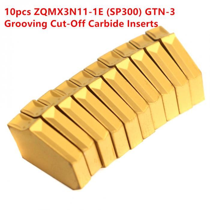 SP300 10x 3N11-1E ZQMX GTN-3 3mm Cut-Off Grooving Carbide Inserts For CNC Tool