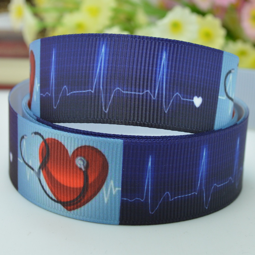 Heart love ribbed DIY bow material hair s 22mm print grosgrain ribbon 7/8 birthday gift paking brand ribbons