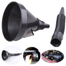 Universal Car Truck Motorcycle Filled Plastic Vehicle Funnels With Soft Spout Pipe Pour Oil Tool Diesel Gasoline Car Tool 5.23 pour oil tool car motorcycle truck vehicle plastic filling funnel with soft pipe spout petrol diesel car partment