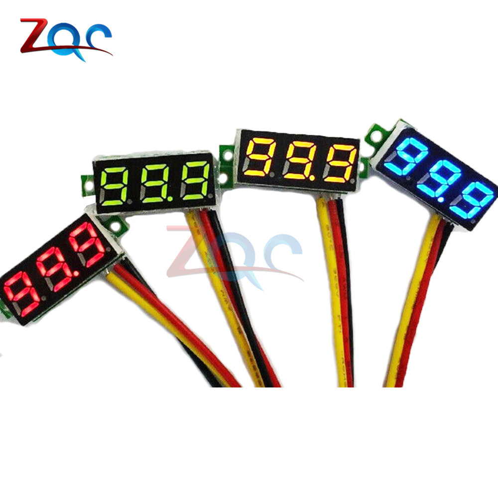 1pcs Mini 0.28 inch 0.28'' 3 bits DC 0-100v Digital Red LED Display Panel Voltage Meter Voltmeter tester 39%off mini voltmeter tester digital voltage test battery dc 0 30v red blue green auto car