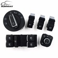 Headlight Window Mirror Control Switch Button for Volkswagen VW Jetta mk5 golf 5 6 tiguan passat b6 CC GOLF PLUS Rabbit 6PCS/SET