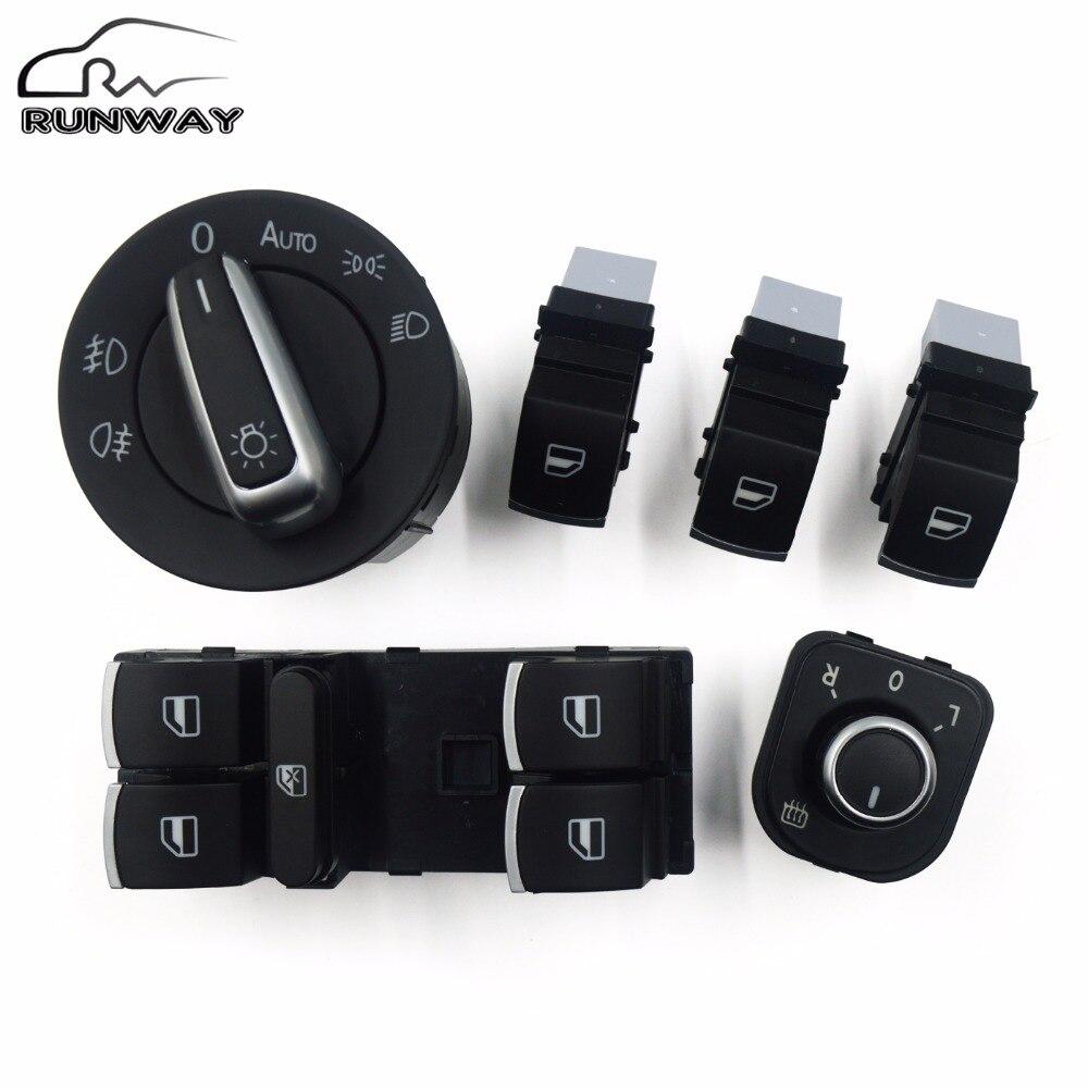 phare fen tre miroir bouton de l 39 interrupteur de commande pour volkswagen vw jetta mk5 golf 5 6. Black Bedroom Furniture Sets. Home Design Ideas