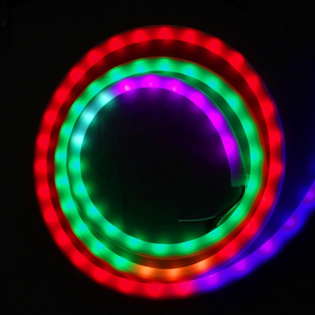 2.5m DC12V WS2811 led neon pixel light,RGB full color;30leds/m with 10pixels/m;waterproof