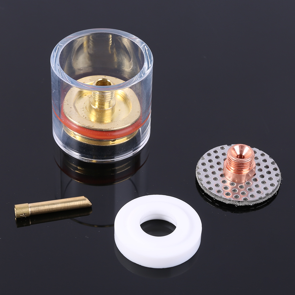 Hot Sale 5x Glass Welding Torch Lens Gas Insulator Kit Set For Tig WP-9/20/25 3/32