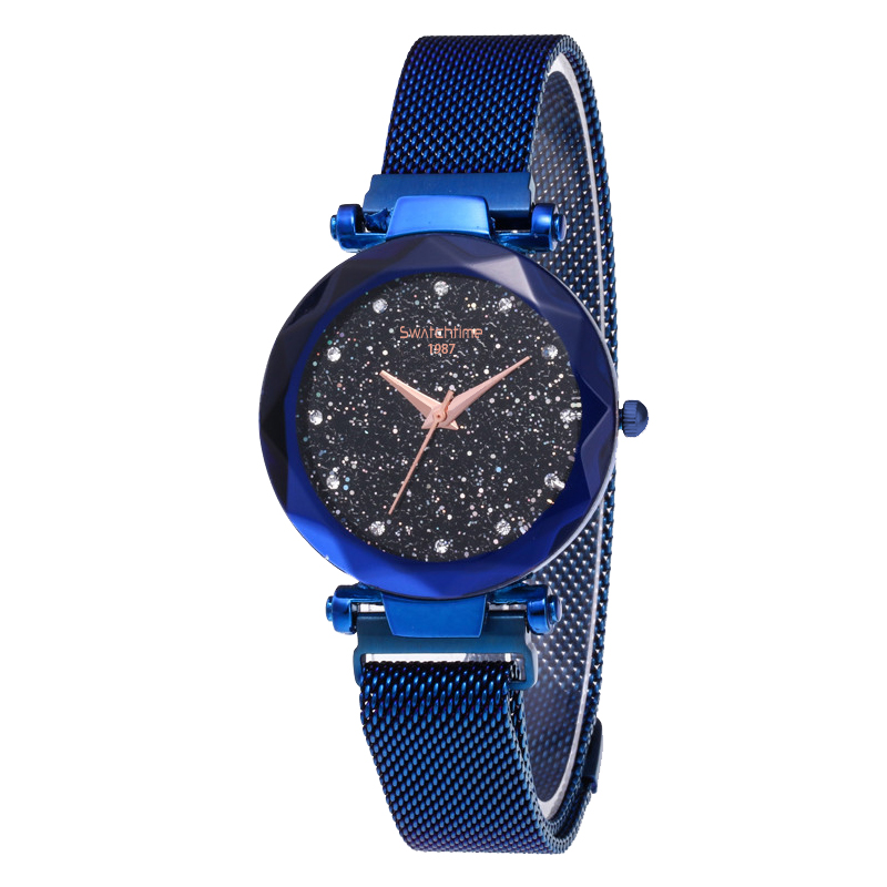 New Design Hot Sexy Fashion Lady Quartz Wrist Watch With Magnetic Mesh Band novel design 2015 hot sell men women quartz wrist watch fashion woman cowboy fabric band wrist watch